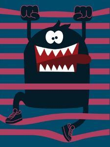 Cute Monster Vector Character Design by braingraph