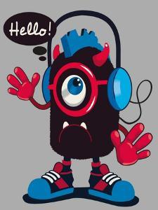Cute Monster Vector Design by braingraph