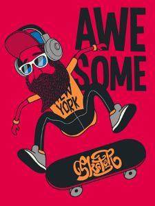 Hipster, Skater Vector Design by braingraph
