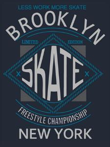 Skate Board Typography, T-Shirt Graphics, Vectors by braingraph
