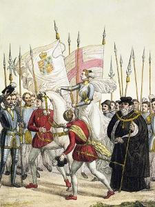Queen Elizabeth I Rallying the Troops at Tilbury Before the Arrival of the Spanish Armada, 1588 by Bramati