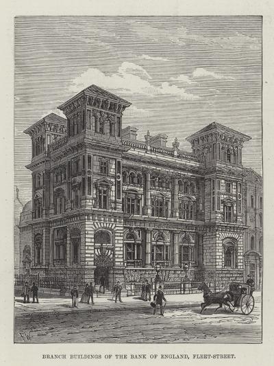 Branch Buildings of the Bank of England, Fleet-Street-Frank Watkins-Giclee Print