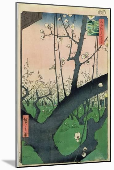 Branch of a Flowering Plum Tree-Ando Hiroshige-Mounted Premium Giclee Print