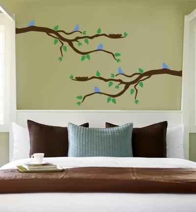 Branch With Blue Birds--Wall Decal
