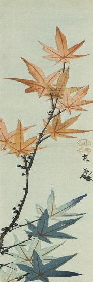 Branche d'érable-Katsushika Taito II-Giclee Print