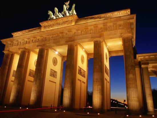 Brandeburg Gate at Dusk, Berlin, Germany-Richard Nebesky-Photographic Print
