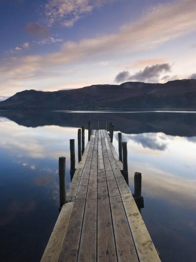 Brandelhow Bay Jetty, Derwentwater, Keswick, Lake District, Cumbria, England-Gavin Hellier-Photographic Print