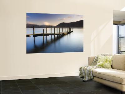 Brandelhow Bay Jetty, Derwentwater, Keswick, Lake District, Cumbria, England-Gavin Hellier-Wall Mural