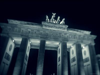 Brandenburg Gate at Night, Berlin, Germany-Jon Arnold-Photographic Print