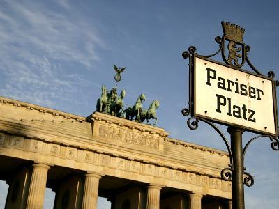 Brandenburg Gate at Pariser Platz, Berlin, Germany, Europe-Hans Peter Merten-Photographic Print