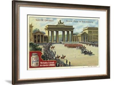 Brandenburg Gate, Berlin--Framed Giclee Print