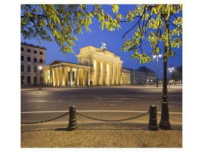 Brandenburger Tor in the evening, Berlin, Germany--Art Print