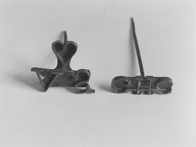 Branding Irons with Owners' Initials--Giclee Print