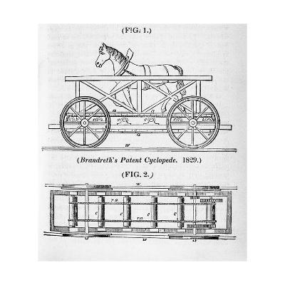 Brandreth's Horse Powered Locomotive 'Cycloped, 1829--Giclee Print