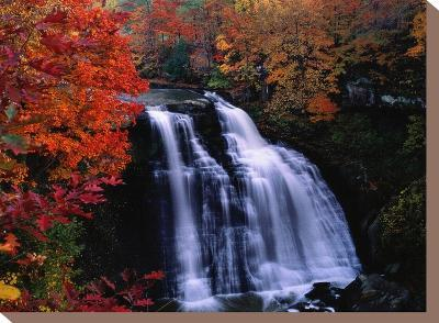 Brandywine Falls in the Cuyahoga National Recreation Area, Ohio-Melissa Farlow-Stretched Canvas Print