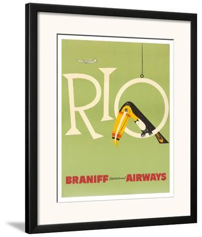 Braniff Air Rio c.1960s--Framed Giclee Print