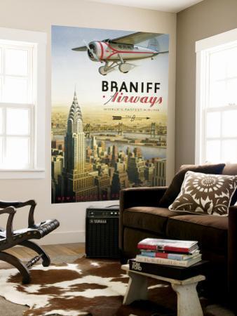 Braniff Airways, Manhattan, New York