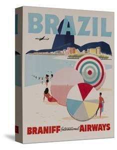 Braniff Airways Travel Poster, Brazil