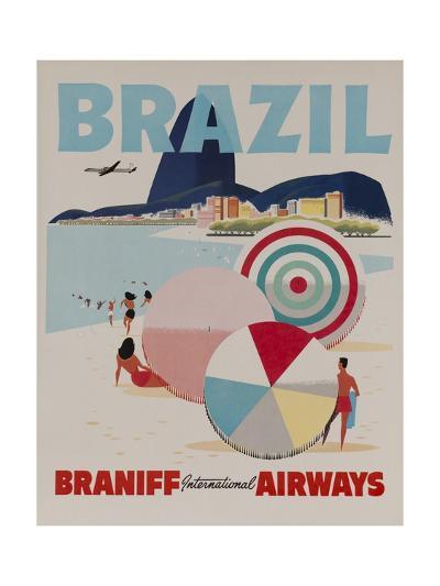 Braniff Airways Travel Poster, Brazil--Giclee Print