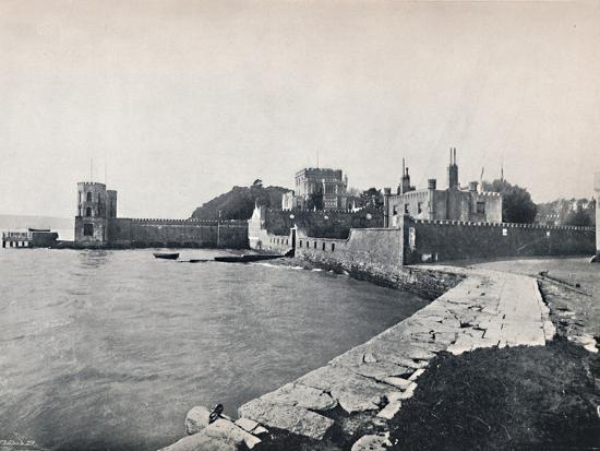 'Branksea Island - General View of the Castle', 1895-Unknown-Photographic Print
