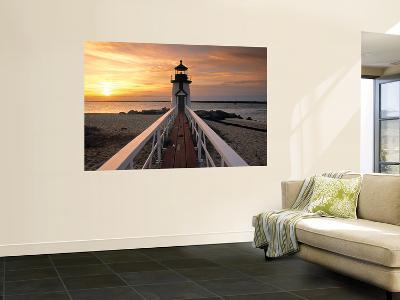 Brant Point Lighthouse, Nantucket Island, Massachusetts, USA-Walter Bibikow-Giant Art Print
