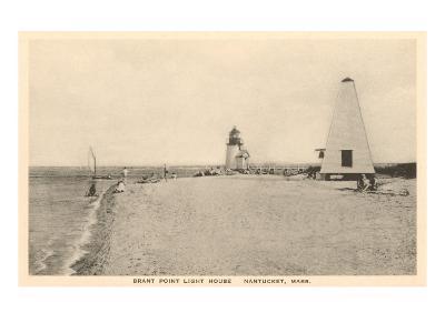 Brant Point Lighthouse, Nantucket, Massachusetts--Art Print