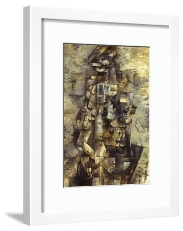 Braque: Man with a Guitar-Georges Braque-Framed Giclee Print