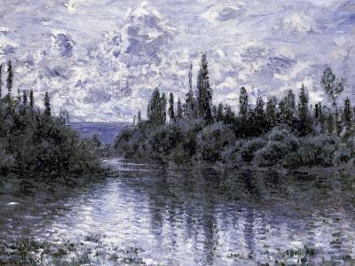 Bras de la Seine Pres de Vetheuil-Claude Monet-Giclee Print