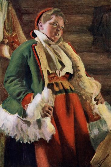 Braskkulla, a Peasant Girl from Moro, 1911-1912-Anders Leonard Zorn-Giclee Print