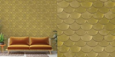Brass Belly Old World Brass Metallic Self-Adhesive Wallpaper