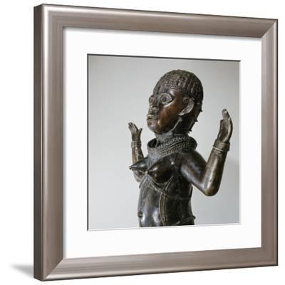 Brass figure of a woman, Benin culture, Nigeria-Werner Forman-Framed Giclee Print
