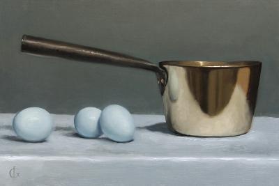 Brass Pan and Blue Eggs, 2011-James Gillick-Giclee Print
