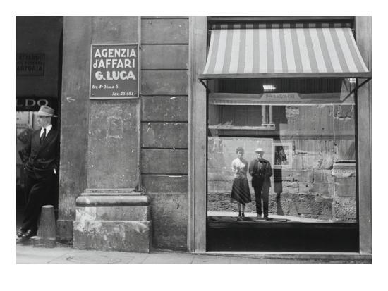 Brassaï et Gilberte à Genova--Giclee Print