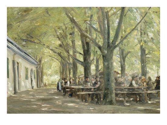 Brasserie de campagne à Brannenbourg (Bavière)-Max Liebermann-Giclee Print