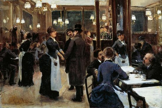 Brasserie of Fidelity-Giovanni Lessi-Giclee Print