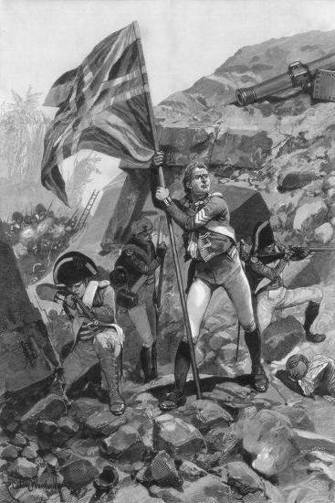 Brave Conduct of Sergeant Graham, Battle of Seringapatam, 1894-Richard Caton Woodville II-Giclee Print