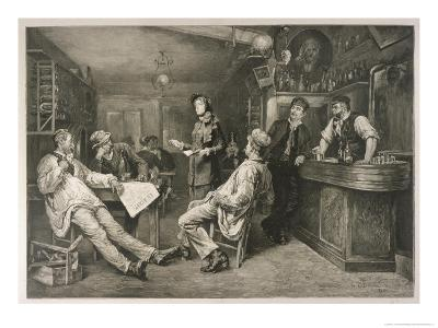 Brave English Salvationist Preaches to the Clientele of a Swiss Tavern-G. Cederstroem-Giclee Print