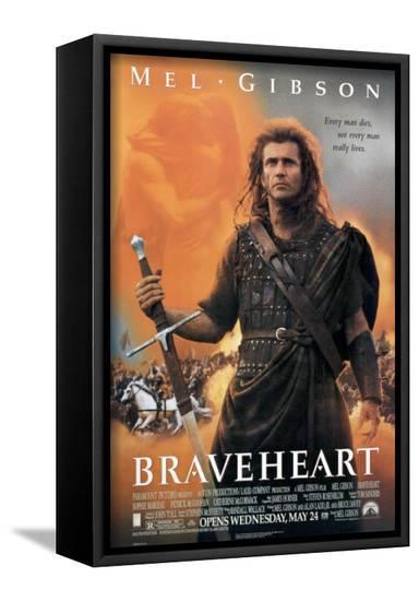 Braveheart--Framed Canvas Print