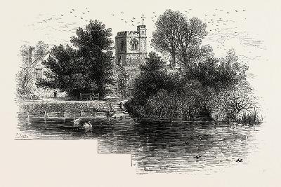 Bray Church, Scenery of the Thames, UK, 19th Century--Giclee Print