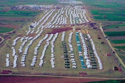 Brazda/Stenkovac Refugee Camp in Macedonia Sheltered over 50,000--Photo