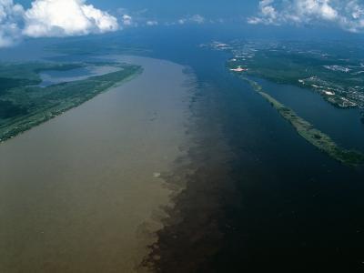 Brazil - Amazonas - Amazon River and Negro River--Photographic Print