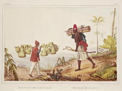Brazil, Native Porters, from Picturesque and Historical Voyage to Brazil, 1835-Jean Baptiste Edouard Detaille-Giclee Print