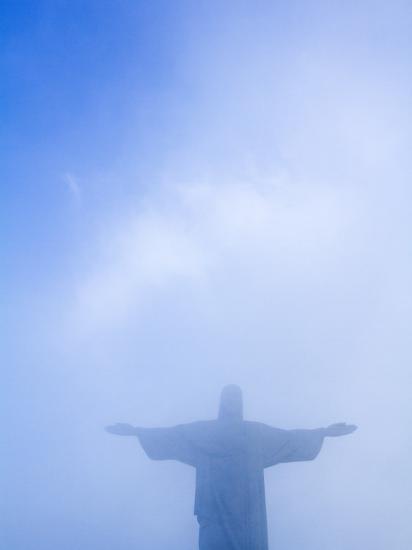Brazil, Rio De Janeiro, Cosme Velho, Christ the Redeemer Statue at Atop Cocovado-Jane Sweeney-Photographic Print