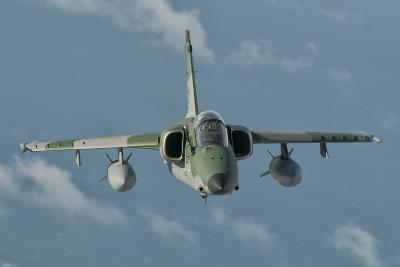 Brazilian Air Force Amx in Flight over Brazil-Stocktrek Images-Photographic Print