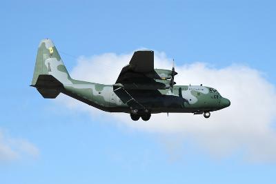 Brazilian Air Force C-130 Hercules Prepares for Landing-Stocktrek Images-Photographic Print