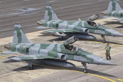 Brazilian Air Force F-5 at Natal Air Force Base, Brazil-Stocktrek Images-Photographic Print
