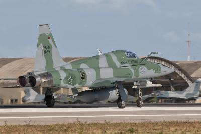 Brazilian Air Force F-5 at Natal Air Force Base, Brazil-Stocktrek Images-Photographic Print