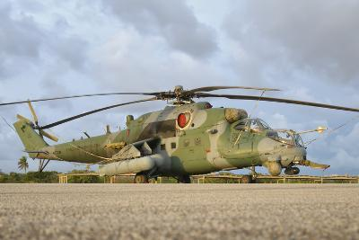 Brazilian Air Force Mi-35 at Natal Air Force Base, Brazil-Stocktrek Images-Photographic Print