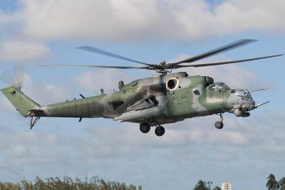 Brazilian Air Force Mi-35 at Natal Air Force Base, Brazil-Stocktrek Images-Photographic Print