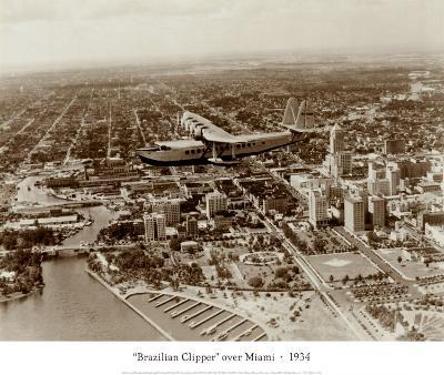 Brazilian Clipper over Miami, 1934--Art Print